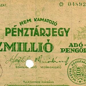 Pénztárjegyek és pénzhelyettesítők az adópengő korszakban / Cashier certificates and banknote substitutes