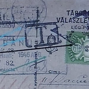 The postage due area when the recipient had to pay / Portózás
